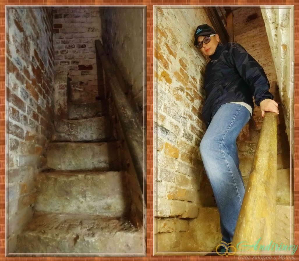 Волоколамский кремль. Лестница колокольни