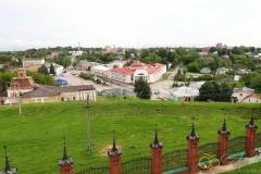Волоколамский кремль. Вид с колокольни на Октябрьскую площадь