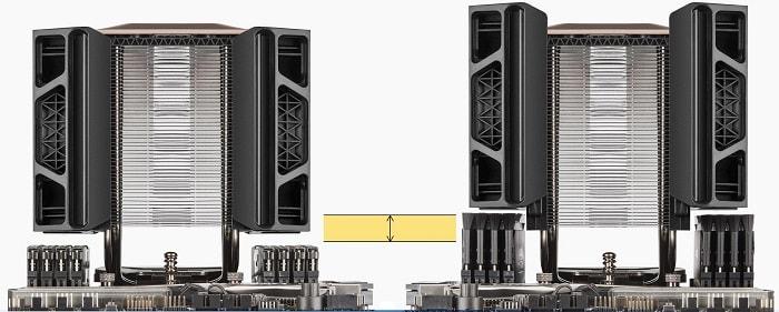 Corsair A500 – обзор. Система регулировки высоты установки вентиляторов