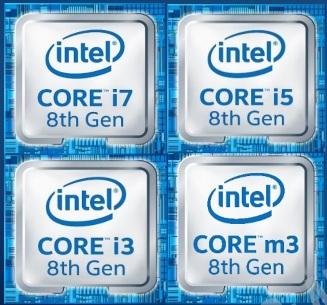 Новые CPU Intel 8-го поколения для ультрабуков