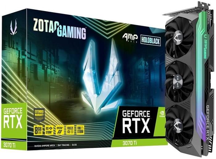 NVidia RTX 3070 Ti - выбор видеокарты Zotac GeForce RTX 3070 Ti AMP Holo