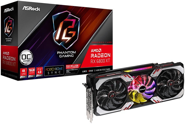 Выбор видеокарты на AMD Radeon RX 6800XT - ASRock Radeon RX 6800 XT Phantom Gaming D