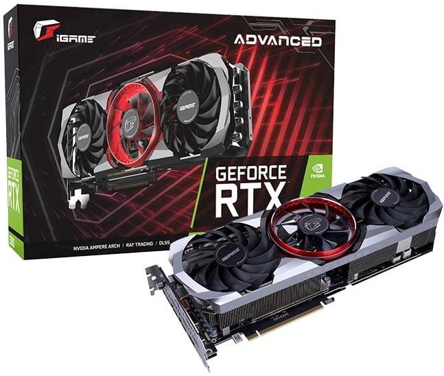 Выбор видеокарты на NVidia RTX 3080 - Colorful iGame GeForce RTX 3080 Advanced OC