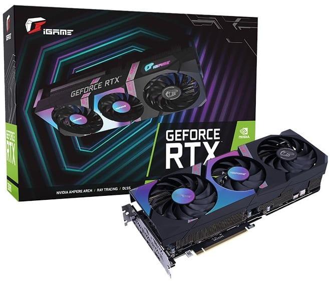 Выбор видеокарты на NVidia RTX 3080 - Colorful iGame GeForce RTX 3080 Ultra OC 10G-V