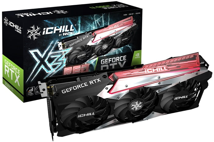 Выбор видеокарты NVidia RTX 3060 Ti - INNO3D GEFORCE RTX 3060 Ti ICHILL X3 RED