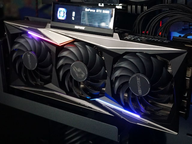 Colorful iGame GeForce RTX 3080 Vulcan OC - LCD экран