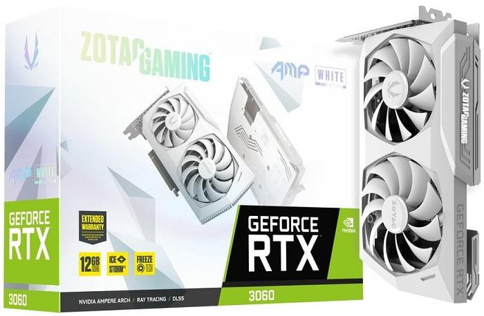 Краткий обзор видеокарт на NVidia RTX 3060 - Zotac GeForce RTX 3060 AMP White Edition