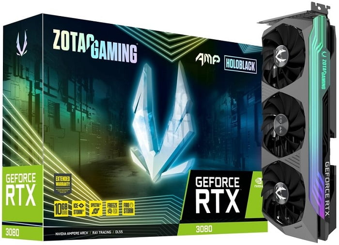 Выбор видеокарты на NVidia RTX 3080 - ZOTAC GAMING GeForce RTX 3080 AMP Holo
