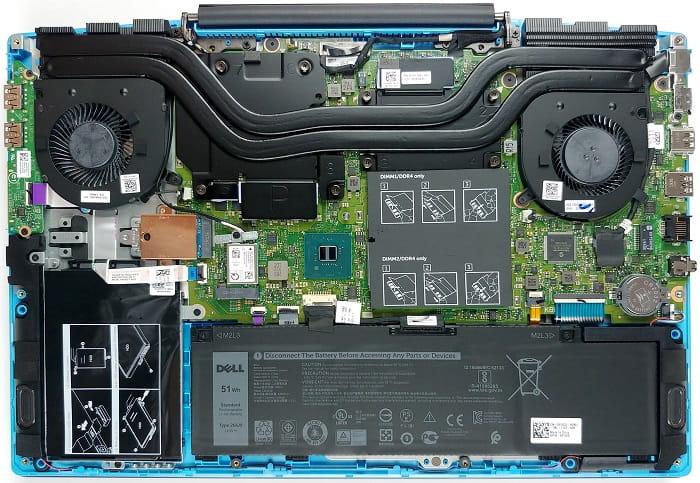Выбор Dell G3 15 3590 - внутреннее устройство