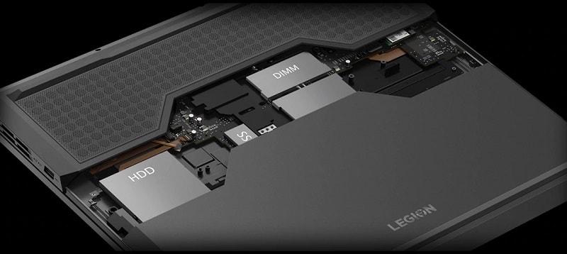 Выбор Lenovo Legion Y540-17 - внутреннее устройство