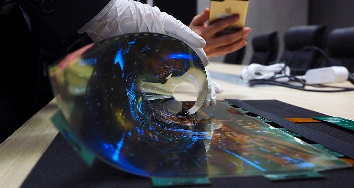 Гибкий дисплей OLED для смартфонов
