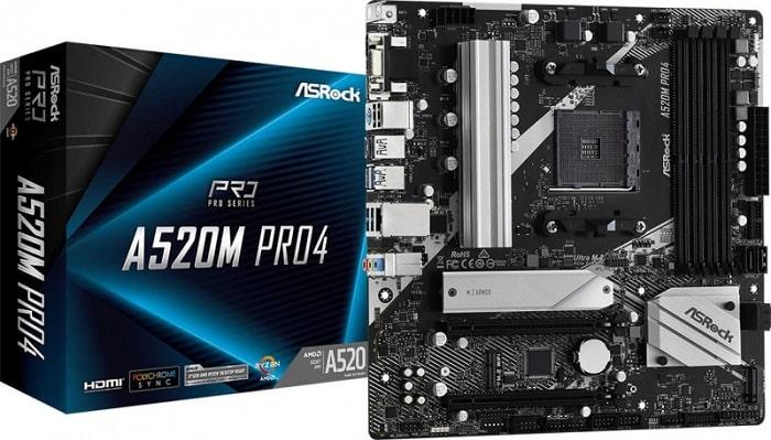 Выбор материнской платы на AMD A520 – ASRock A520M Pro4