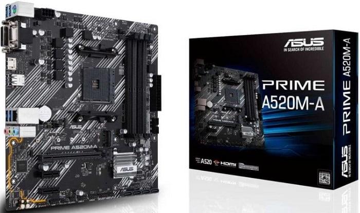 Выбор материнской платы на AMD A520 – Asus PRIME A520M-A
