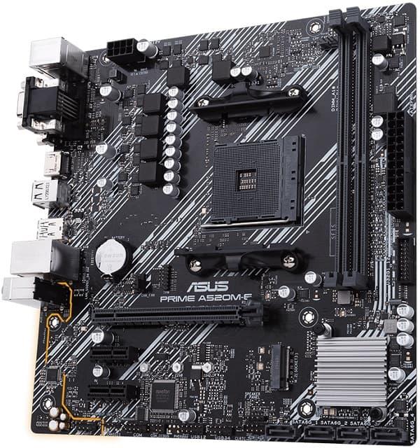 Выбор материнской платы на AMD A520 – Asus PRIME A520M-E