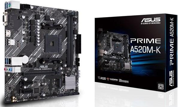 Выбор материнской платы на AMD A520 – Asus PRIME A520M-K