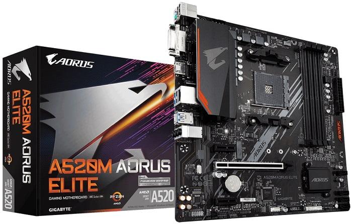 Выбор материнской платы на AMD A520 – Gigabyte A520M AORUS ELITE