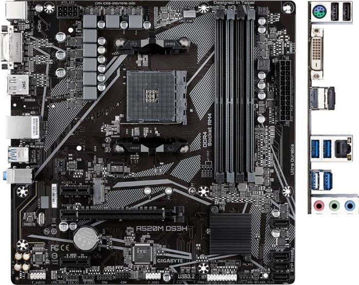 Выбор материнской платы на AMD A520 – Gigabyte A520M DS3H