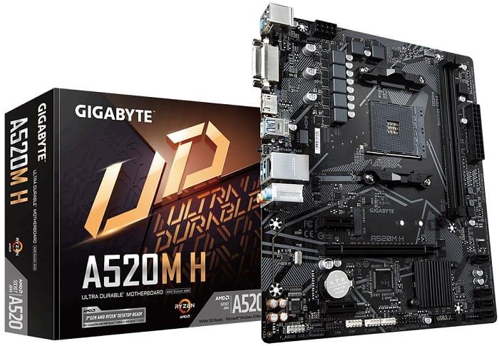 Выбор материнской платы на AMD A520 – Gigabyte A520M H