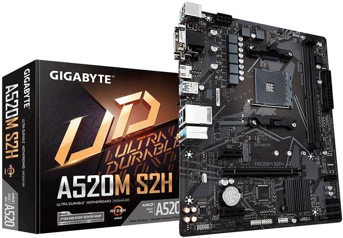 Выбор материнской платы на AMD A520 – Gigabyte A520M S2H
