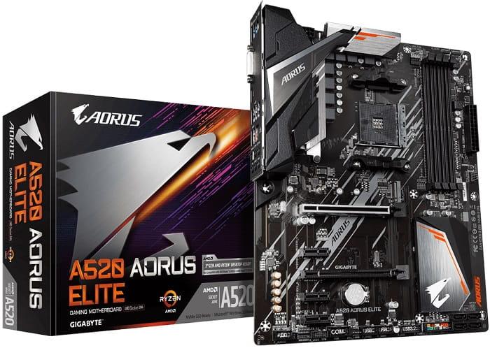 Выбор материнской платы на AMD A520 – Gigabyte A520 AORUS ELITE