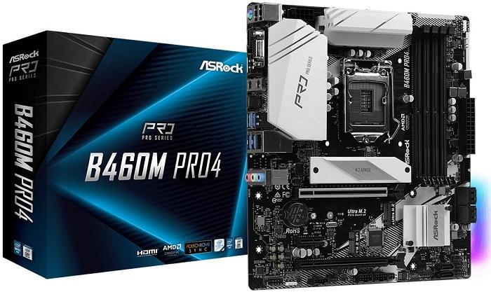 Выбор материнской платы на чипсете Intel B460 - ASRock B460M Pro4