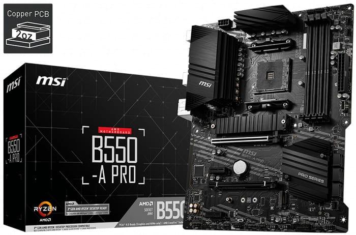 Выбор материнской платы на чипсете AMD B550 - MSI B550-A Pro