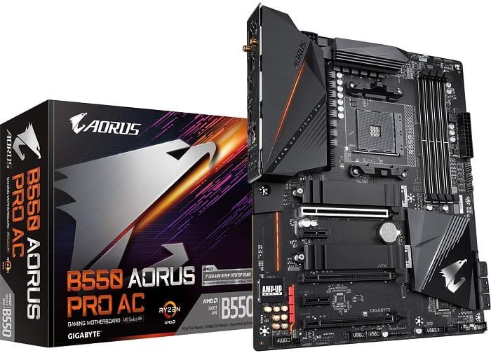 Выбор материнской платы на чипсете AMD B550 - Gigabyte B550 AORUS Pro (ac)