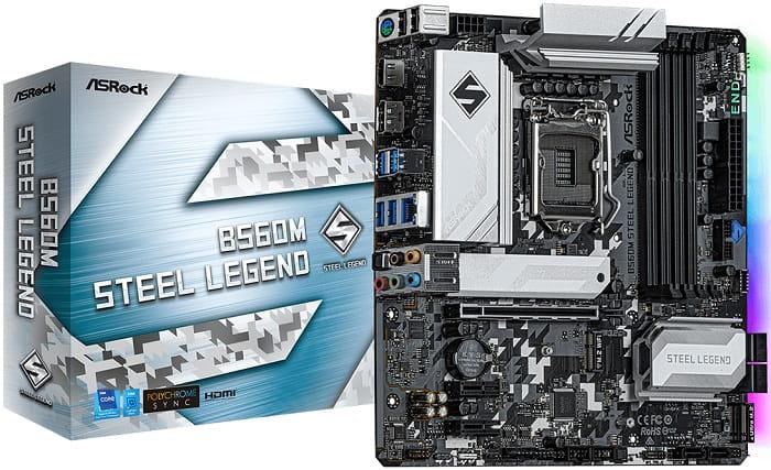 Выбор материнской платы на Intel B560 - ASRock B560M Steel Legend