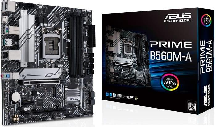 Выбор материнской платы на Intel B560 - Asus PRIME B560M-A