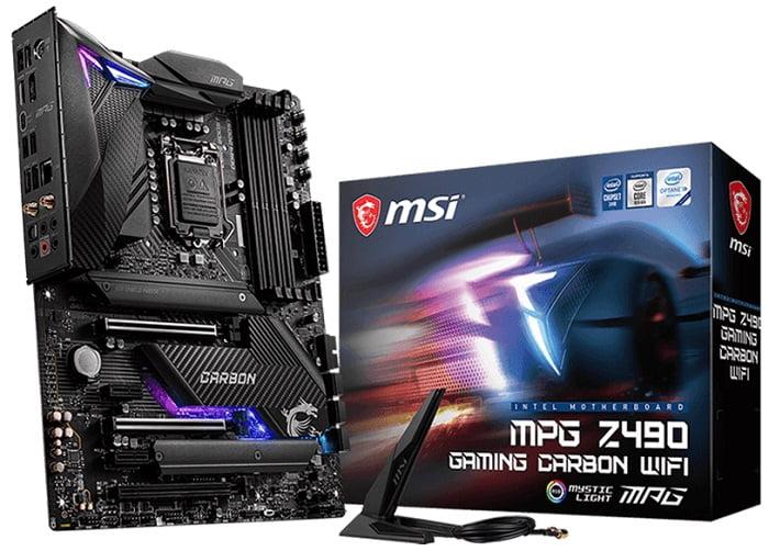 Выбор материнской платы на чипсете Intel Z490 - MSI MPG Z490 Gaming Carbon WiFi