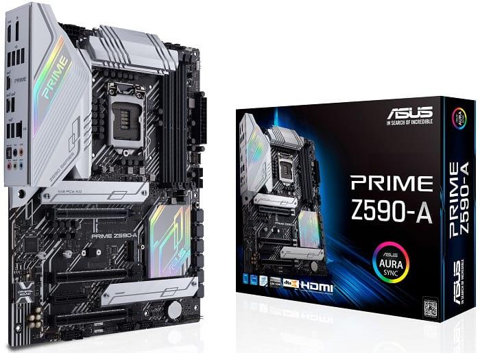 Выбор материнской платы на Intel Z590 - ASUS PRIME Z590-A