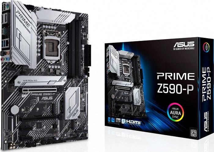 Выбор материнской платы на Intel Z590 - Asus Prime Z590-P
