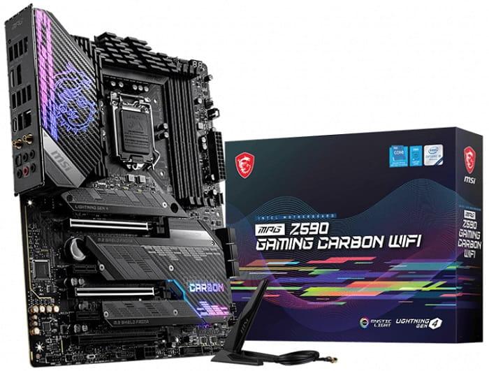 Выбор материнской платы на Intel Z590 - MSI MPG Z590 GAMING CARBON WIFI