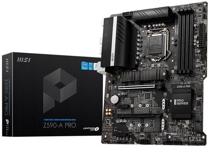 Выбор материнской платы на Intel Z590 - MSI Z590-A PRO