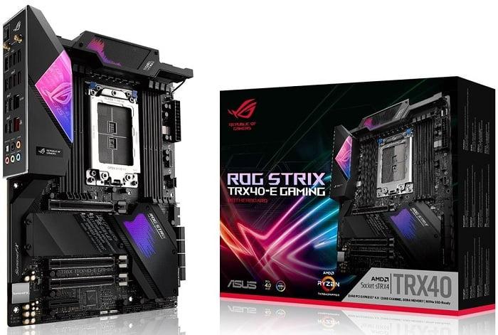 Выбор материнской платы на AMD TRX40 - ASUS ROG Strix TRX40-E Gaming=