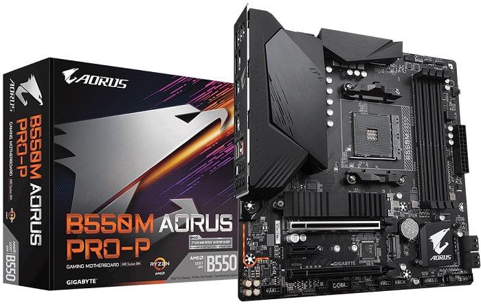 Выбор компактной материнской платы на AMD B550 - Gigabyte B550M AORUS PRO-P