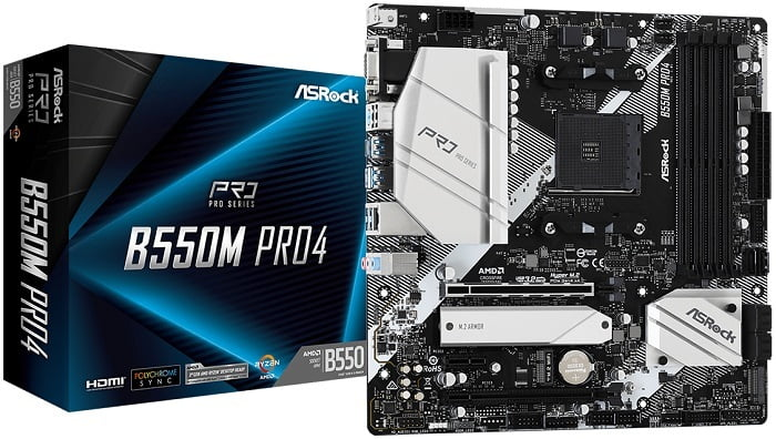 Выбор компактной материнской платы на AMD B550 - ASRock B550M Pro4