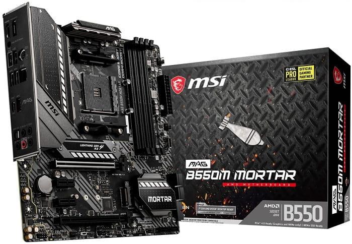 Выбор компактной материнской платы на AMD B550 - MSI MAG B550M Mortar (Wi-fi)