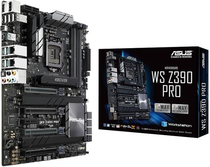 Выбор дорогой материнской платы на Z390 - Asus WS Z390 PRO
