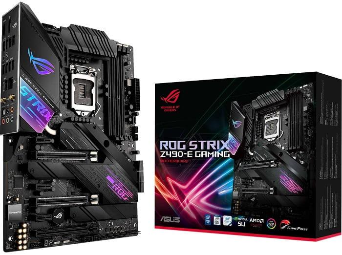 Выбор материнской платы на чипсете Intel Z490 - Asus ROG Strix Z490-E Gaming