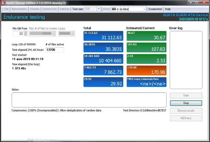 A-Data SU635 тестирование надежности QLC