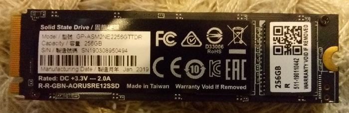 SSD Gigabyte Aorus RGB M.2 - обзор