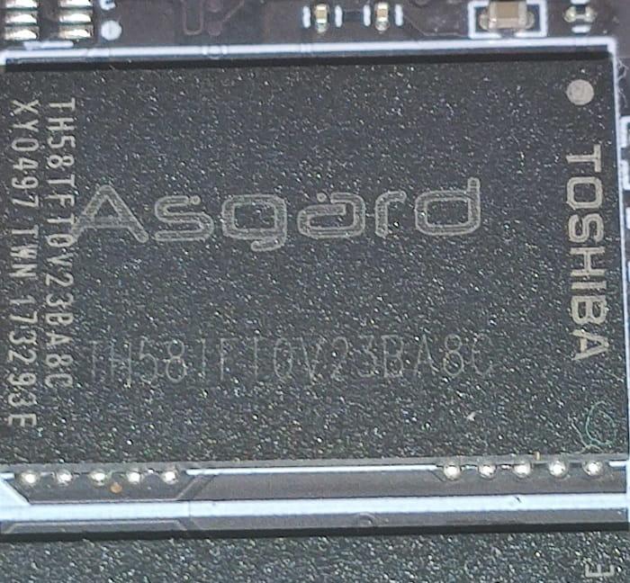 Asgard AN3+ RED – обзор - NAND