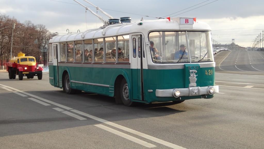 ретро троллейбус ВСНХ