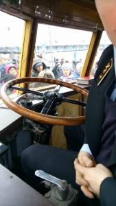 ЯТБ-1. Деревянный руль.