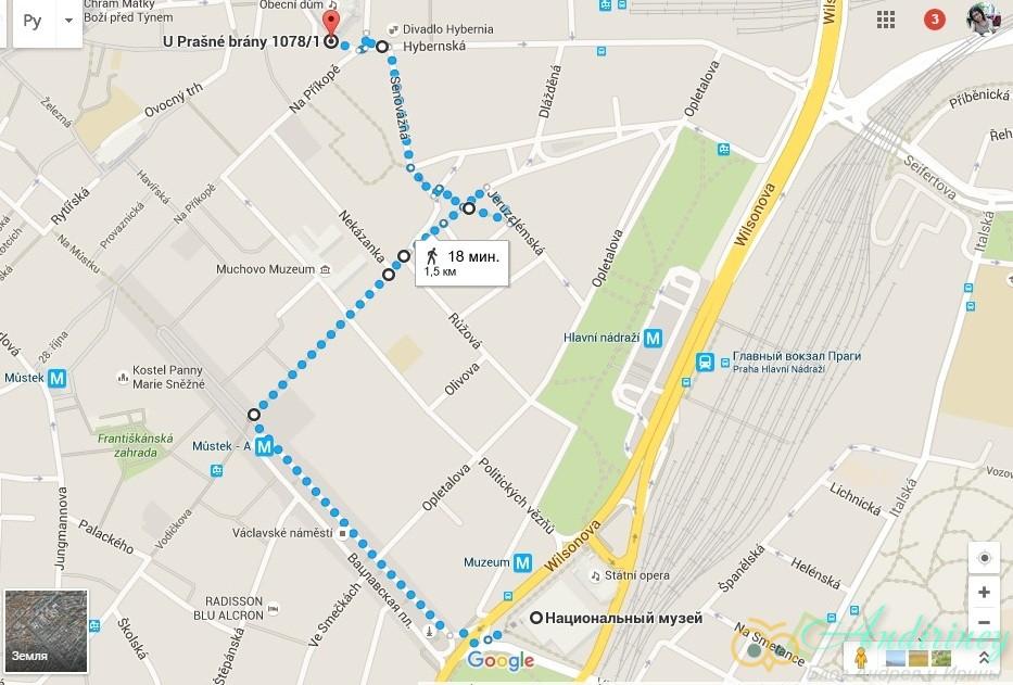 Достопримечательности Праги. От Национального музея до Пороховой башни