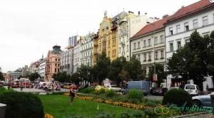 Вацлавская площадь в Праге. Гранд-отель Европа