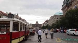 Прага, Вацлавская площадь, кафе Трамвай
