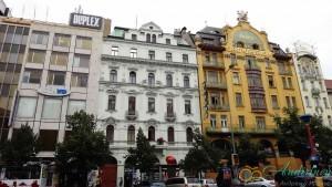Прага, Вацлавская площадь. Архитектурные стили