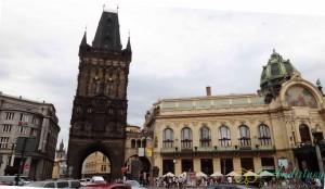 Достопримечательности Праги. Пороховые ворота